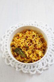 Phodnicha bhaat recipe | Maharashtrian style seasoned rice recipe