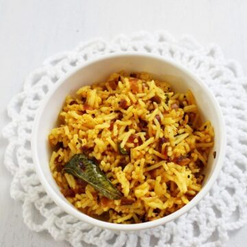 Phodnicha bhaat recipe | Maharashtrian style seasoned rice recipe