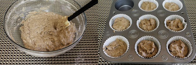 Eggless Buckwheat Banana Muffins Recipe   Muffins for fasting, vrat
