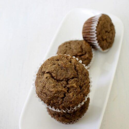 Eggless Buckwheat Banana Muffins Recipe | Muffins for fasting, vrat