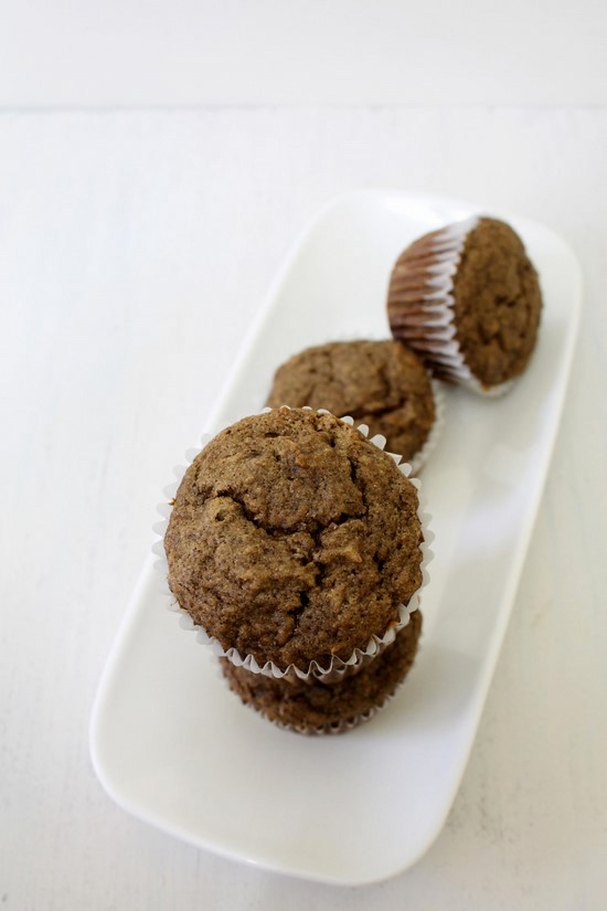 Eggless buckwheat banana muffins recipe