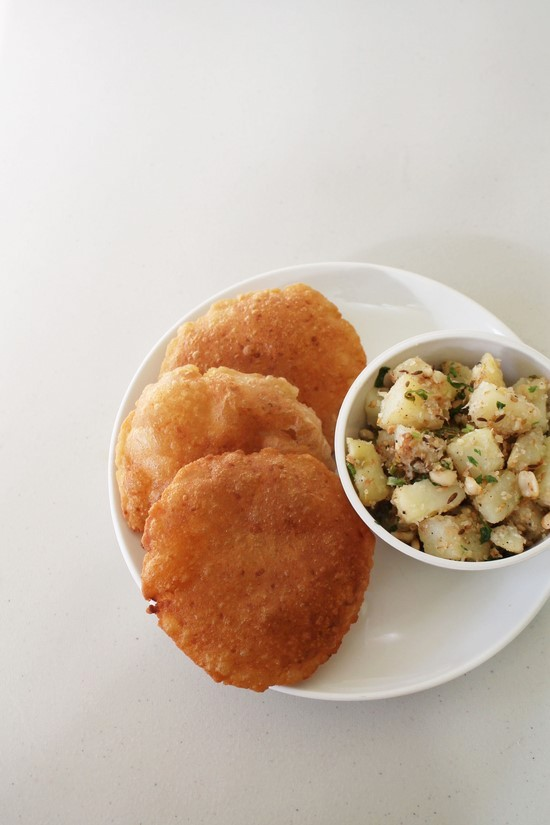 Rajgira puri recipe (Vrat ki puri)