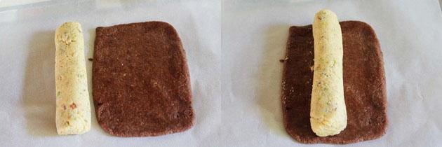 Chocolate Pista rolls (Diwali sweet recipe, mithai recipe)