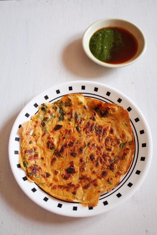 Besan Cheela Recipe   How to make besan ka cheela   Vegetarian Omelette