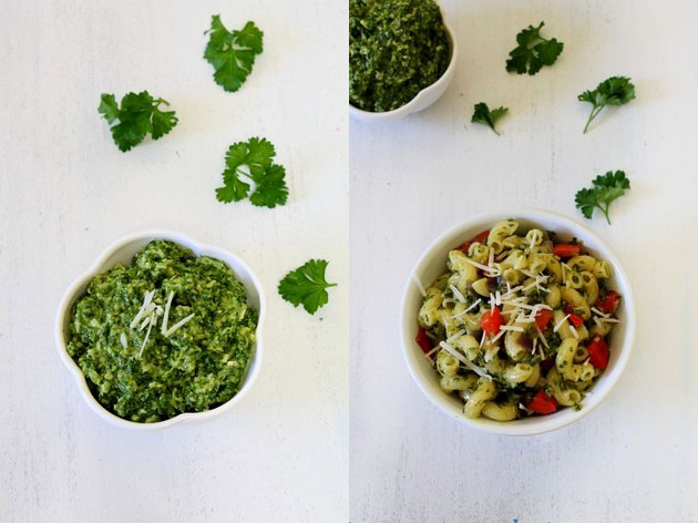 Parsley Cilantro Pesto Pasta Recipe | Pesto Pasta | Pasta Recipe
