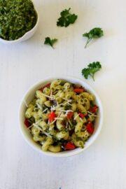 Parsley Cilantro Pesto Pasta Recipe | Pesto Pasta | Pasta Recipe