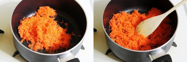 cooking carrots in the ghee