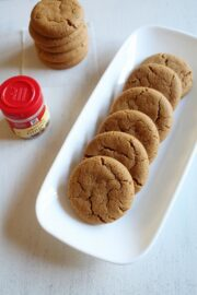 Eggless Ginger Cookies Recipe | Chewy Ginger Molasses Cookies