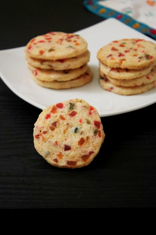 Eggless Tutti Frutti Cookies Recipe   Christmas Baking Recipe