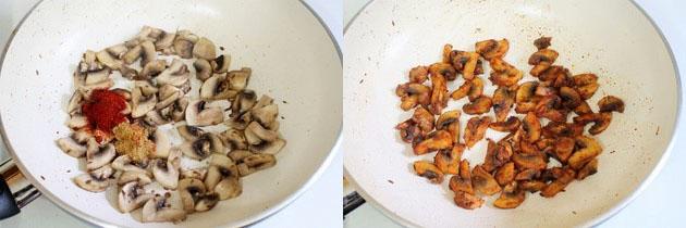 Palak Mushroom Recipe | Spinach Mushroom Recipe | Curry Recipe