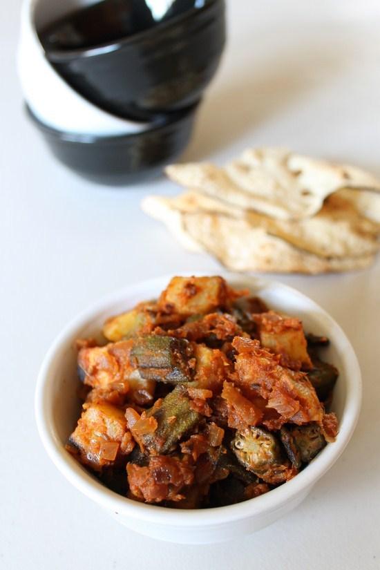 Aloo bhindi recipe how to make punjabi aloo bhindi bhindi recipes aloo bhindi recipe punjabi aloo bhindi masala recipe forumfinder Gallery
