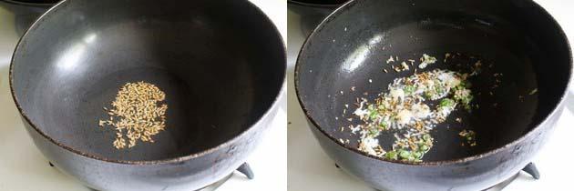 make tempering for moong dal palak recipe