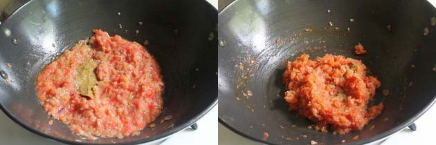 Cook tomato puree well