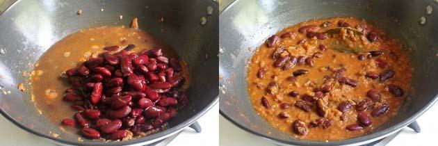 add boiled rajma and simmer