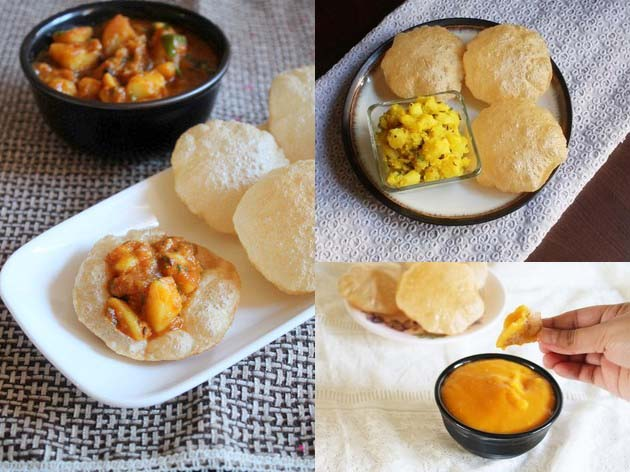 Poori side dishes - Savory and sweet