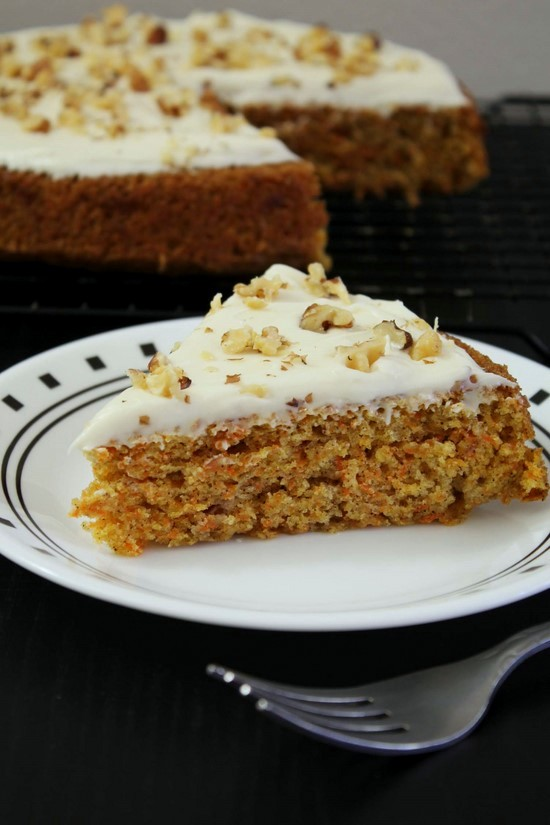 Eggless Carrot Cake Recipe Best Carrot Cake W Cream Cheese Frosting