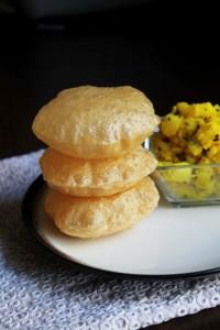 poori a deep fried poori deep fried puffed poori indian puffed bread ...