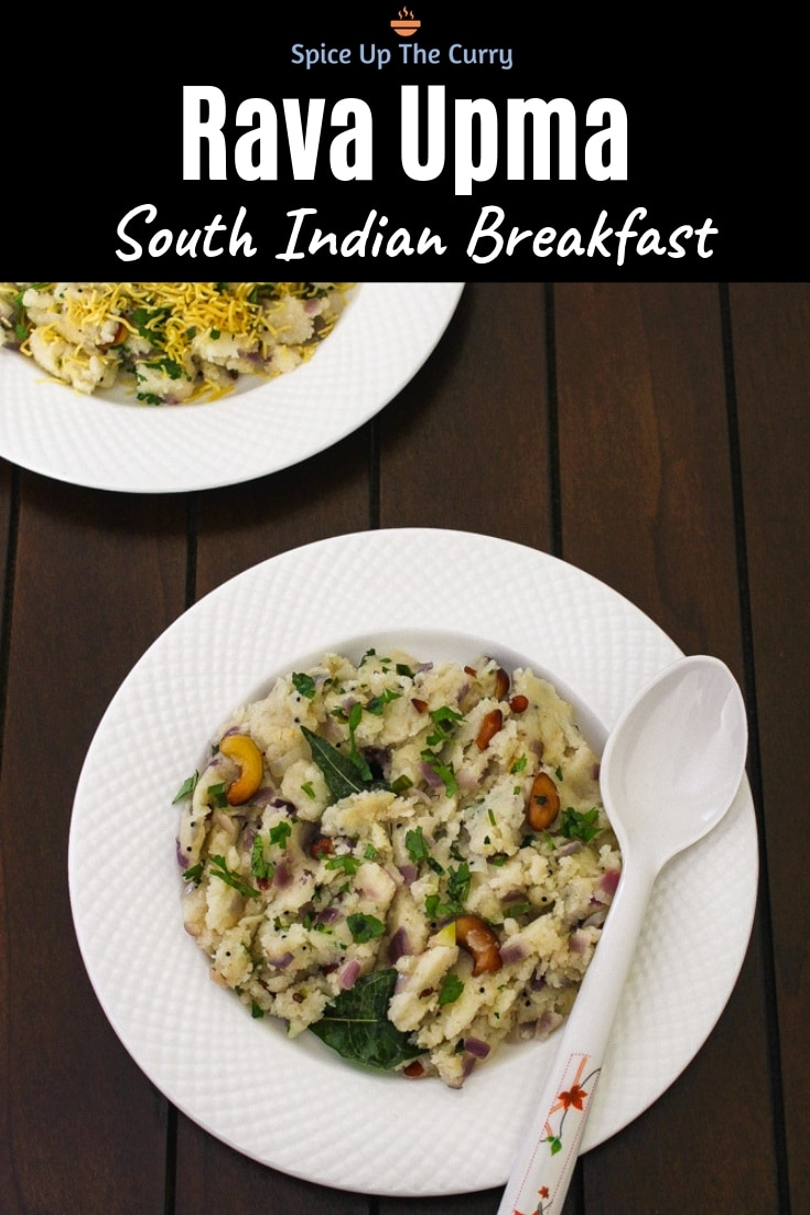 Upma Recipe (South Indian Rava Upma) Pin