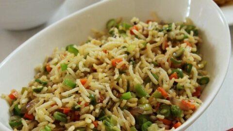 Vegetable fried rice recipe veg fried rice how to make veg fried rice ccuart Choice Image