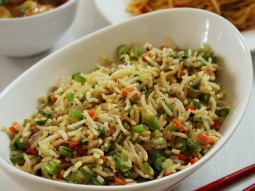 Vegetable fried rice recipe veg fried rice how to make veg fried rice ccuart Choice Image