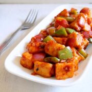 Chilli Paneer Dry Recipe | Indo-Chinese Chilli Paneer Recipe