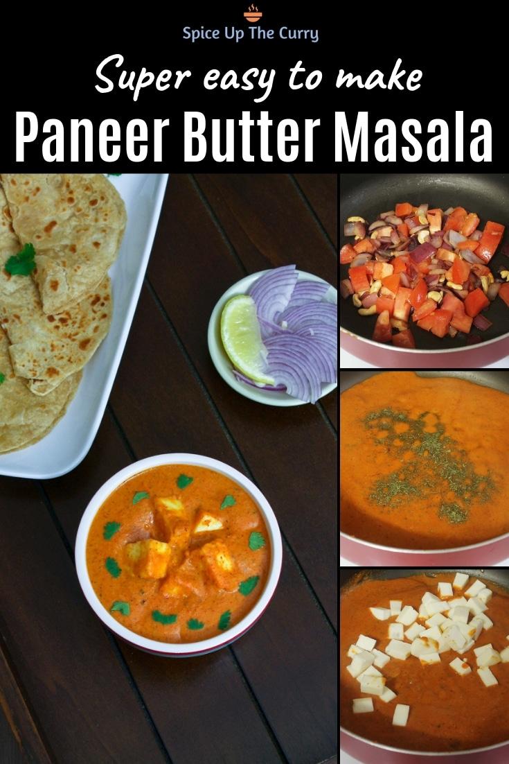 Paneer Butter Masala Recipe (Restaurant style Butter Paneer) Pin