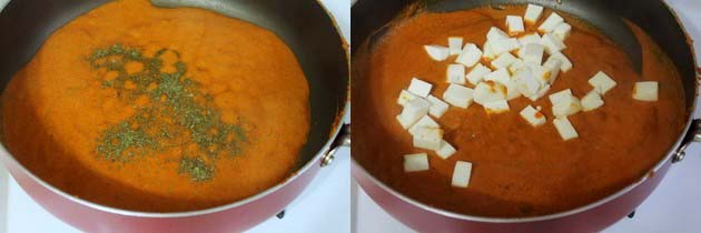 Add paneer and kasoori methi