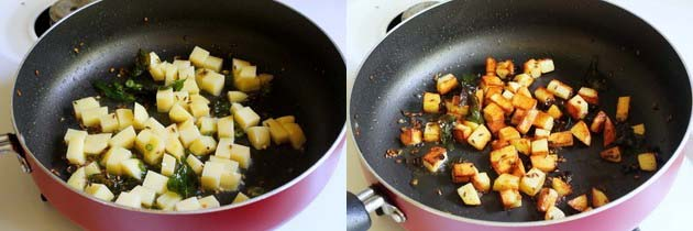 Cook potatoes till soft for sabudana khichdi
