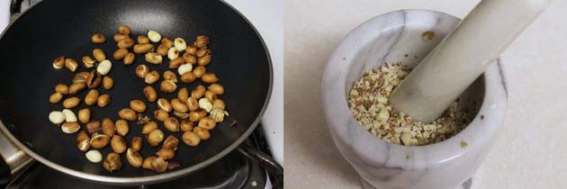 dry roasted and crushed peanuts