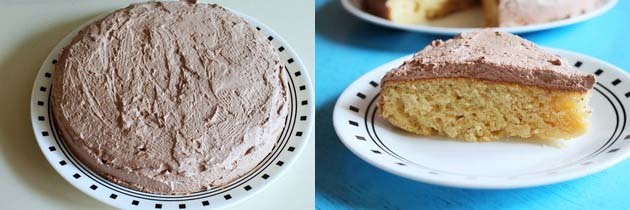 frosted eggless vanilla cake