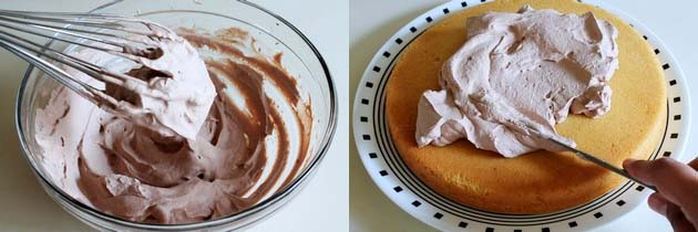 chocolate whipped cream frosting for vanilla cake