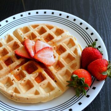 Eggless Waffle Recipe   Vegan Waffles   Vegan Waffle Recipe