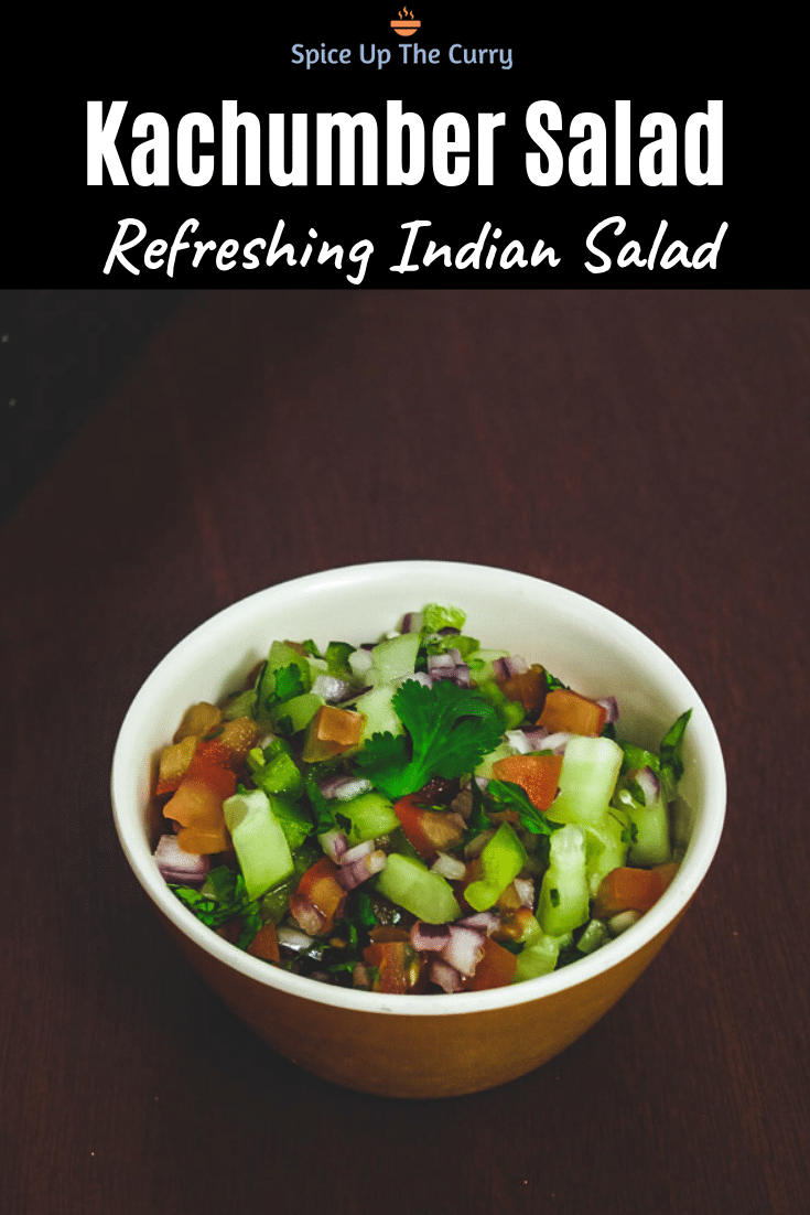Indian Salad Recipe (Kachumber Salad) Pin