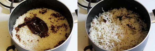 Cumin rice is ready to serve