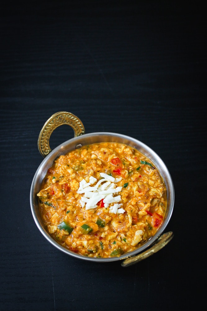 How to make paneer bhurji recipe