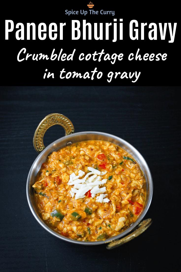 Paneer Bhurji Recipe (Gravy & Dry versions) PIN