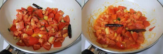 cooking tomatoes till soft