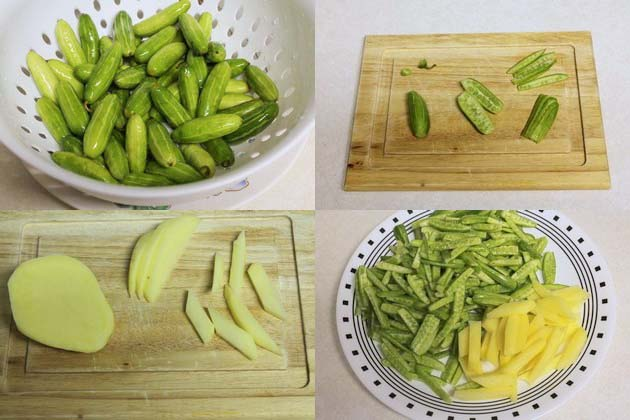 How to cut tindora or tendli