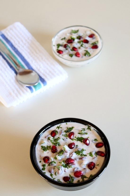 Pomegranate Raita Recipe | How to make pomegranate raita