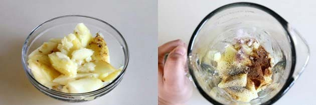 Take mango pulp to the grinder
