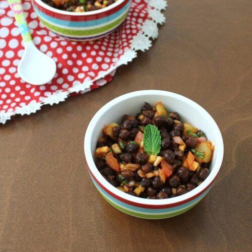 Kala Chana Chaat Recipe | How to make Black chickpeas chaat