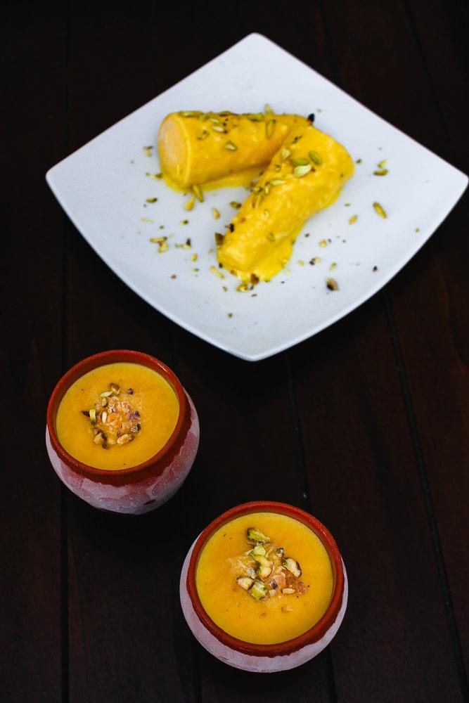 Mango Kulfi Recipe (How to make kulfi using custard powder)