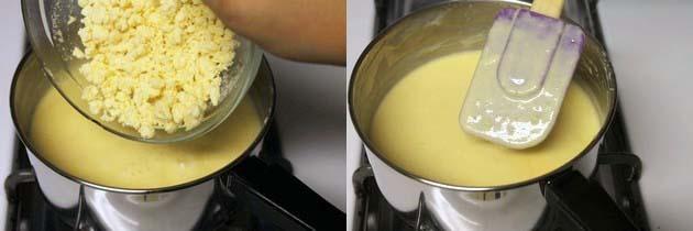 add khoya and cook till melt