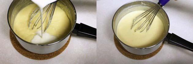 add heavy cream and mix mango kulfi mixture