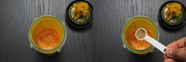puree the mango for mango lassi recipe