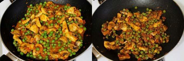 Matar mushroom recipe | Dry matar mushroom sabzi recipe