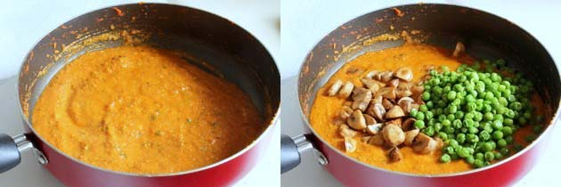 Mushroom Mutter Recipe | Matar Mushroom Curry Recipe