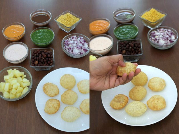 Dahi puri recipe | How to make dahi puri | Chaat recipe