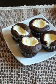 Eggless black bottom cupcakes recipe | Easy black bottom cupcakes