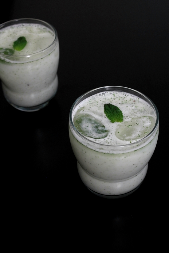 Pudina chaas recipe | Mint chaas recipe | How to make chaas